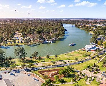Murray River Aerial Riverbank View